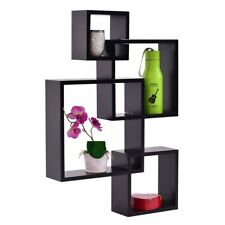 Floating Shelf Wall Mounted 4 Sets Of Intersecting Squares Home Decor Furniture