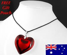 Love heart glass fashion necklaces pendants ebay red love heart crystal glass bead pendant necklace woman gift new womens jewelry mozeypictures Images