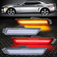 DEPO 6th Gen Front or Rear Clear Bumper Side Marker Light For 16-17 Chevy Camaro