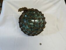 Vintage Large Authentic Japanese Roped Net Glass Fishing Float Bouy Ball 40 In