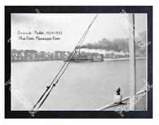 Historic Cincinnati -Packet, 1924 Ohio River Steamboat Postcard