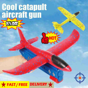 Airplane Launcher Toy, Catapult Plane Gun Outside Flying Launcher Toys Hot