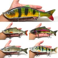 "10"" Multi-Jointed Fishing Lure Big Bait Swimbait Bass Life-like Pike Muskie NEW"