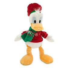 "DONALD DUCK HOLIDAY PLUSH 17"" NWT GENUINE ORIGINAL AUTHENTIC DISNEY STORE PATCH"