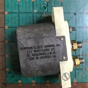 AN2552-3A Burton Aircraft External Power Receptacle Plug Cessna Vintage NIB