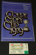 1979 CFL 67 GREY CUP ALOUETTES vs ESKIMOS OLYMPIC STADIUM PROGRAM + TICKET STUB