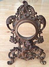 Victorian Brass Watch Case With Cherub