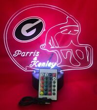 Georgia Bulldogs NCAA College Football Light Up Lamp LED Remote Free Personalize