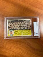 PSA 2 - 1958 Topps # 19 San Francisco Giants Team Card (1957 New York Giants)