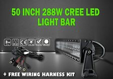 LED LIGHT BAR KIT 50Inch 288W CREE Led Light Bar Flood Spot Combo Work Lights