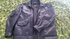 Flight Suits (Gibson Barnes) US Leather Flight Jacket 44 CWU-45P Black MODIFIED