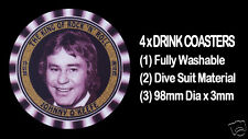 4  x  JOHNNY O'KEEFE, THE KING OF ROCK 'N' ROLL, TRIBUTE - DRINK COASTERS