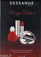 Publicité 2014 - DESSANGE Paris - Rouge Passion