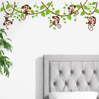 RVinyl Monkey Bedroom Wall Sticker Decals Mural Jungle Nursery Monkey 9H