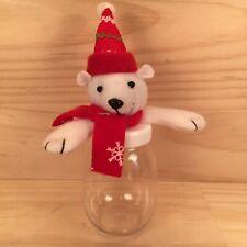 "POLAR BEAR ""White"" Beautiful Animal Themed Candy Jar Festive Gift Box Decoration"