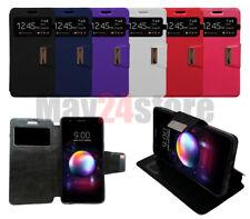 Funda soporte libro ventana LG K11 + protector cristal opcional