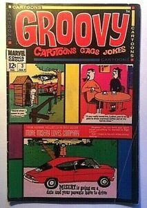 Groovy Cartoons - Gags - Jokes #3 Marvel Comics 1968