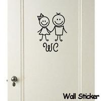 wc - tür wasserdicht wandgemälde mauer - sticker wc - aufkleber tapete