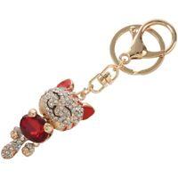 Rhinestone Crystal Keyring Charm Pendant Purse Bag Key Ring Chain Keychain B1F8