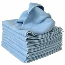 10 x Micro Fibre Cloths Large Super Soft Washable Blue Duster Car Home Work