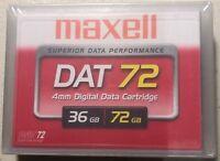 Brand New:-  Maxell DAT72 Data Tape Cartridges 36/72GB
