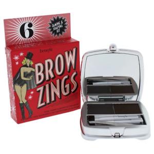 Benefit Brow Zings Eyebrow Tame Shape Fill Wax Powder Tweezer #6 Black Brown