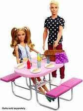 Barbie Outdoor Furniture Set Picnic Table NEW