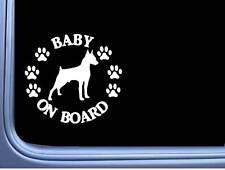 """Baby on Board Minpin L545 6"""" Sticker miniature pinscher dog decal"""