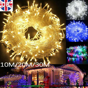 100-300 LED Mains Fairy String Lights for Christmas Tree Bedroom Party Outdoor