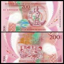 Vanuatu 200 Vatu, 2014, P-New, AA-Prefix, Polymer, UNC Banknote