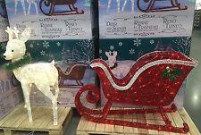 Reindeer & Sleigh 260 LED Lights Indoor Outdoor Garden Christmas Decoration