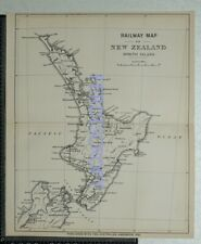 1891  Railway Map of North Island, New Zealand