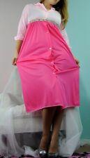 VTG Soft Nylon 2 tone pink Krs BARD night gown sleep dress sz S JR