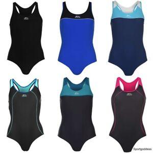 Slazenger Ladies New Racer Back Swim Suit Swimming Costume Swimmers
