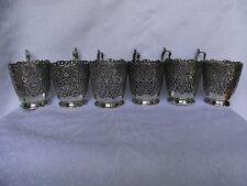 6 Teeglashalter Silber 875 - er Russland um 1890