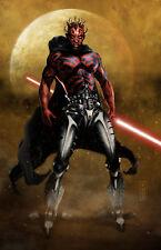 Star Wars Cyborg Darth Maul Original 11x17 Art Print by Scott Harben