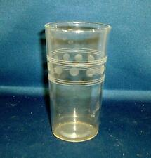 Beautiful Antique Art Deco Acid Etched Drinking Glass 1920's Classical Design