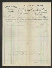 """TOULOUSE (31) TISSUS en gros / ROUENNERIE LAINAGES """"ASSALIT & FONTAN"""" en 1909"""