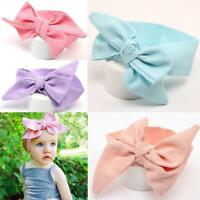 Girl DIY Rabbit Ears Baby Head Wrap Headband Turban Knot Hair Band