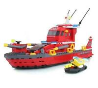 Fire Rescue Ship & Boat Custom Lego Set