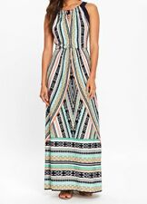 Multicoloured Geometric Print Maxi Dress 14