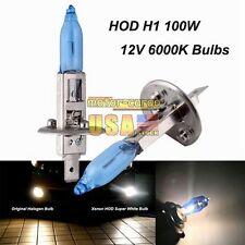 2x H1 HOD XENON Halogen Headlight Bulbs Car Auto Replace Lights 100W 6000K White