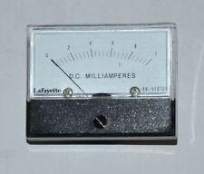 Lafayette Dc Milliamperes Meter 0 1ma Scale Model 99 51070v Vintage