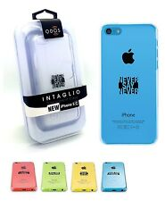 50 x QDOS Intaglio Transparent 'Never Say Never' Case Cover For iPhone 5c Clear