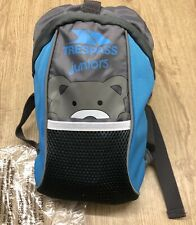 New, Trespass, Toddler Rucksack With Reigns, Blue & Grey, 5L Capacity
