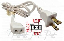 Replacement 6ft Power Cord for Vintage Solid State TV Stereo Radio 2-Prong Pin