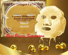 10 PCS Gold Bio-Collagen Facial (Face) Mask, Anti-Aging, Hydrating, Repair Skin