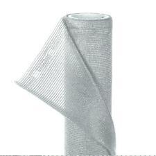 Zaunblende Sonnenschutz Sichtschutz Netz HaGa® silbergrau 100m L x 1,5m Breite