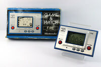 Nintendo Game & Watch Silver Fire RC-04 Boxed Made in Japan 1980 Great Condition
