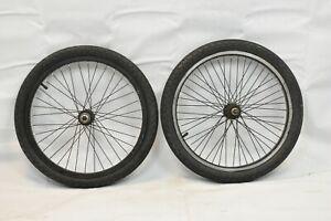 "X-Rims X303 20"" BMX Wheelset OLW110 27mm 48S Mongoose Hub SS Black USA Charity!"